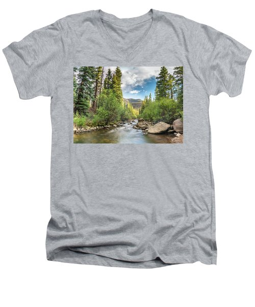 Squaw Creek, Colorado Men's V-Neck T-Shirt