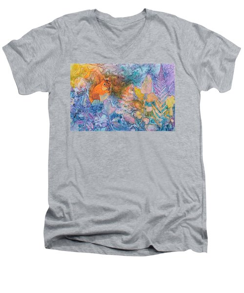 Squirrel Hollow Men's V-Neck T-Shirt by Nancy Jolley