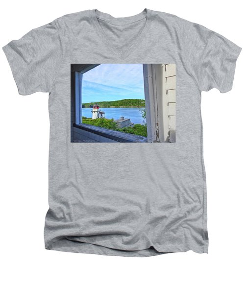 Squirrel Point View From The Deck Men's V-Neck T-Shirt