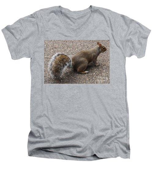 Squirrel Side Men's V-Neck T-Shirt