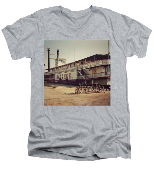 Ss Natchez, New Orleans, October 1993 Men's V-Neck T-Shirt