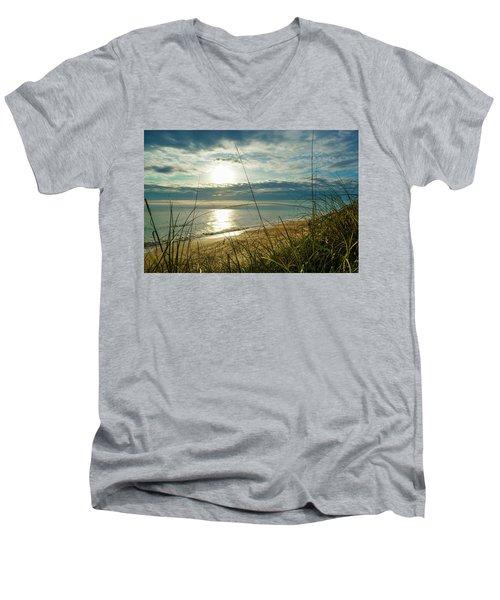 St Aug Sunrise Men's V-Neck T-Shirt by Josy Cue