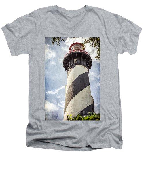 St. Augustine Lighthouse Men's V-Neck T-Shirt