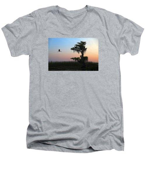 St Augustine Morning Men's V-Neck T-Shirt by Robert Och