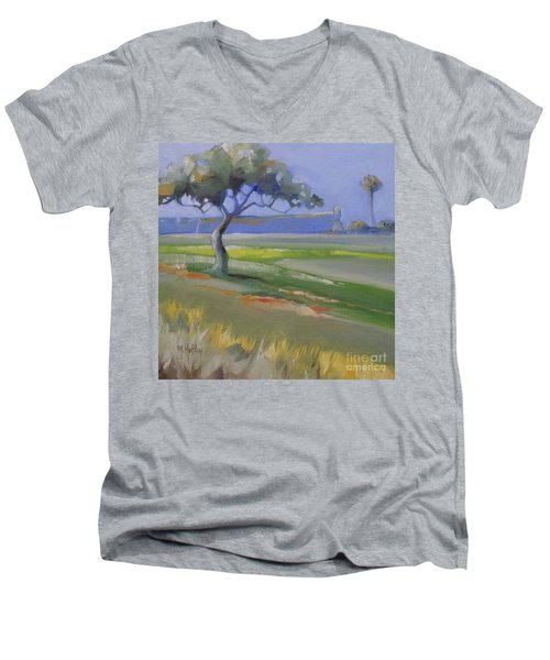 St. Augustine Spanish Castillo Men's V-Neck T-Shirt by Mary Hubley