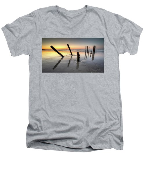 St Clair Sunset Men's V-Neck T-Shirt