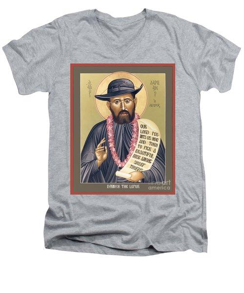 St. Damien The Leper - Rldtl Men's V-Neck T-Shirt