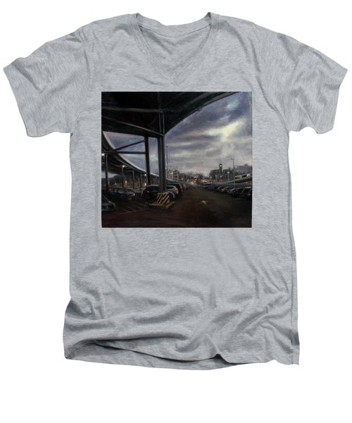 St. George From The Staten Island Ferry Terminal Men's V-Neck T-Shirt