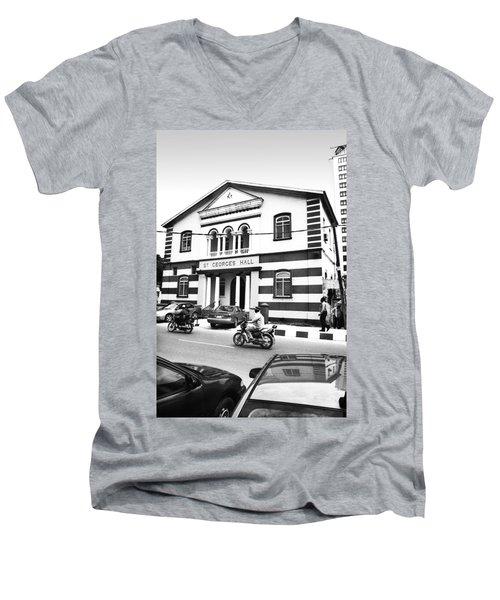 St. Georges Hall, Broad Street Men's V-Neck T-Shirt