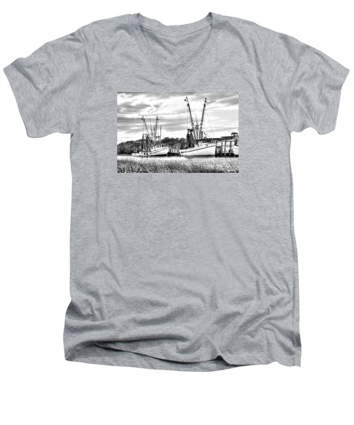 St. Helena Shrimp Boats Men's V-Neck T-Shirt