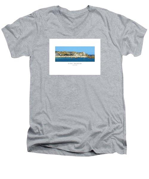 St Ives Sea And Sky Men's V-Neck T-Shirt