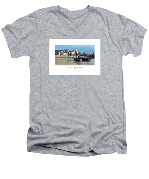 St Ives - Waiting Boats Men's V-Neck T-Shirt