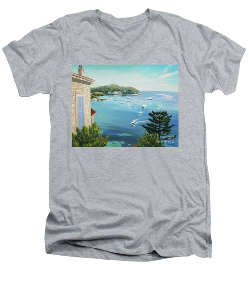St Jean Cap Ferrat 2 Men's V-Neck T-Shirt