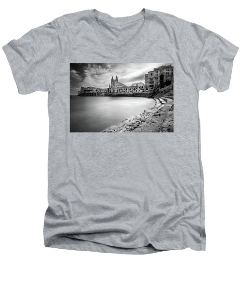 St. Julian's Bay Men's V-Neck T-Shirt
