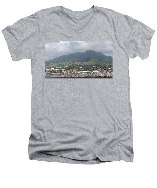 St. Kitts Color Men's V-Neck T-Shirt
