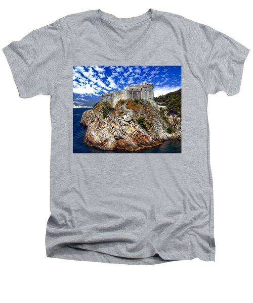 St. Lawrence Fortress Men's V-Neck T-Shirt