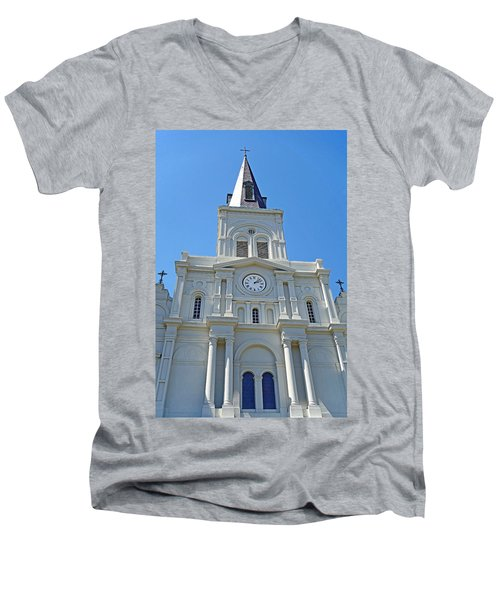 St. Louis Cathedral Study 1 Men's V-Neck T-Shirt
