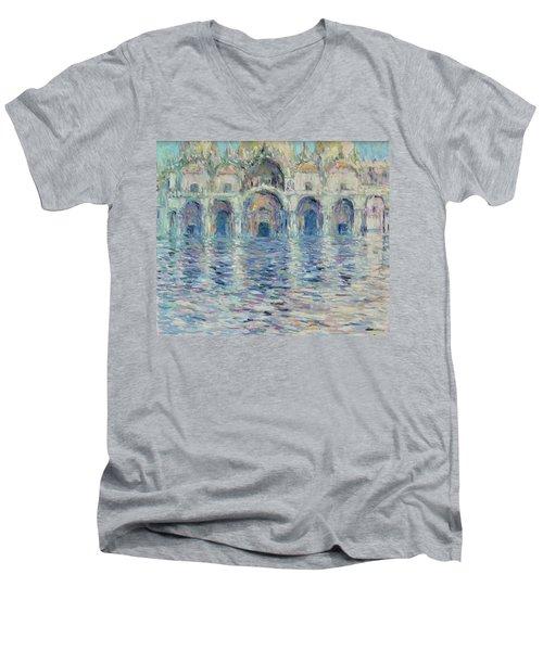 st-Marco square- Venice Men's V-Neck T-Shirt