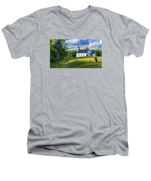 St. Margaret's Of Scotland Men's V-Neck T-Shirt by Ken Morris