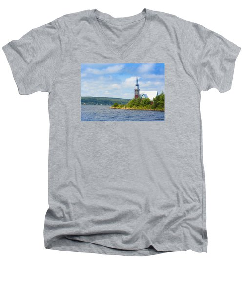St Marks In Middle Lahave Nova Scotia Men's V-Neck T-Shirt