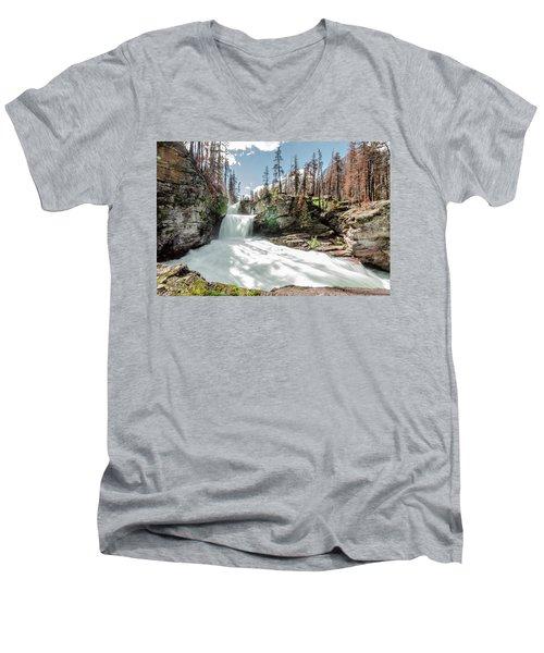 St. Mary Falls Men's V-Neck T-Shirt