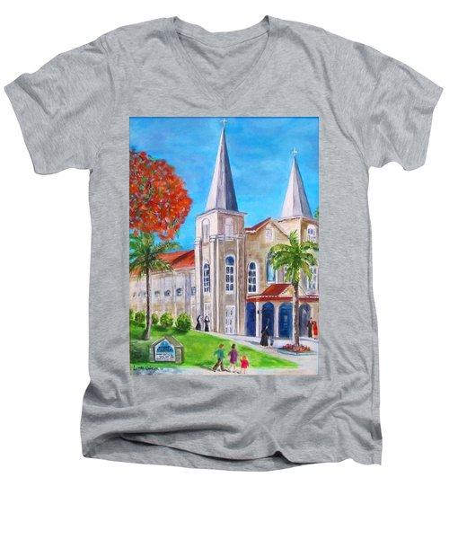 St. Mary's Catholic Church Key West Men's V-Neck T-Shirt