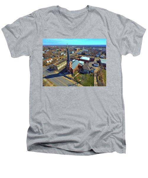 St. Marys Men's V-Neck T-Shirt by Dave Luebbert