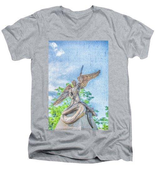 St Michael The Archangel Men's V-Neck T-Shirt