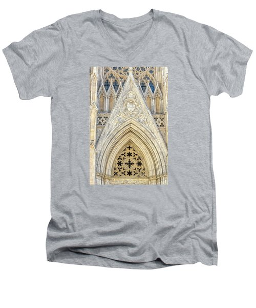 Men's V-Neck T-Shirt featuring the photograph St. Patrick's Cathedral by Sabine Edrissi