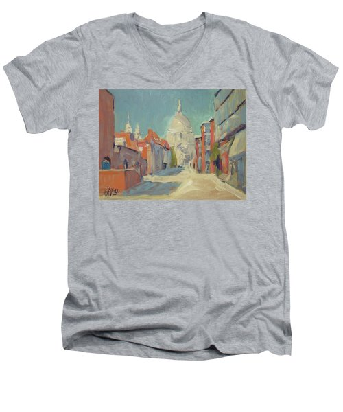 St Pauls London Men's V-Neck T-Shirt