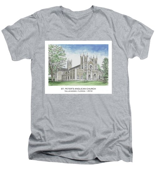 St. Peter's Anglican Church Men's V-Neck T-Shirt