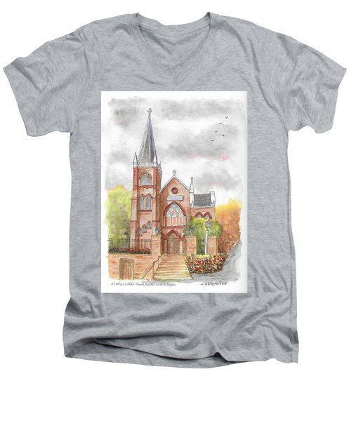 St. Peter's Catholic Church, Harpers Ferry, West Virginia Men's V-Neck T-Shirt