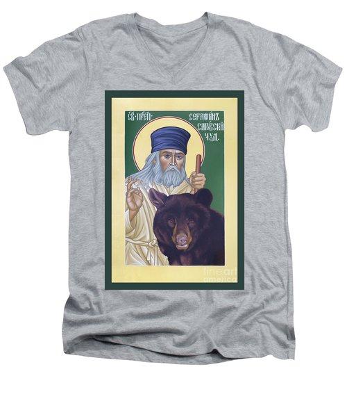 St. Seraphim Of Sarov - Rlses Men's V-Neck T-Shirt