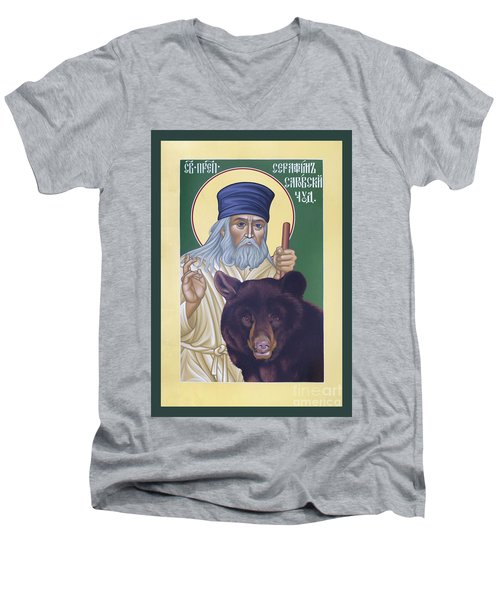 St. Seraphim Of Sarov - Rlses Men's V-Neck T-Shirt