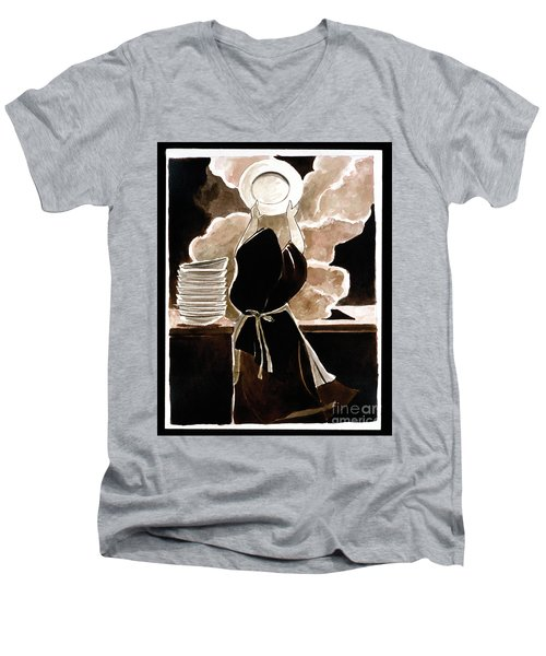 St. Therese Doing The Dishes - Mmdtd Men's V-Neck T-Shirt