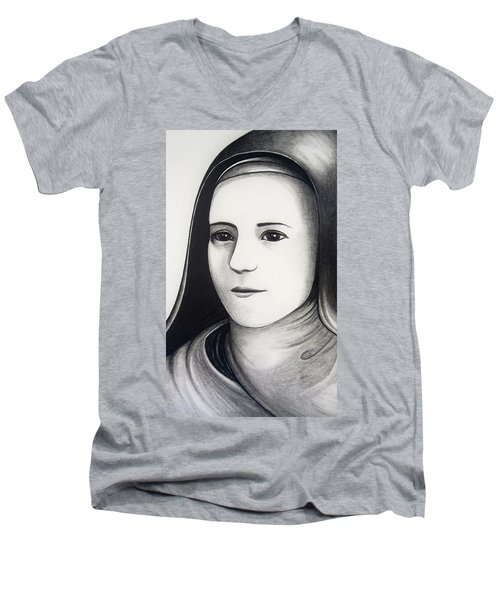St. Therese Of Lisieux Men's V-Neck T-Shirt