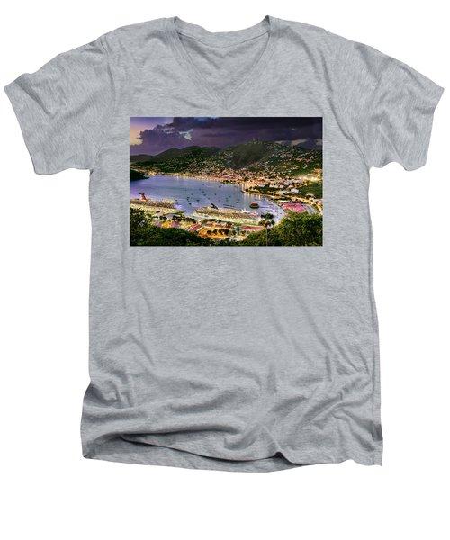 St Thomas Nights Men's V-Neck T-Shirt