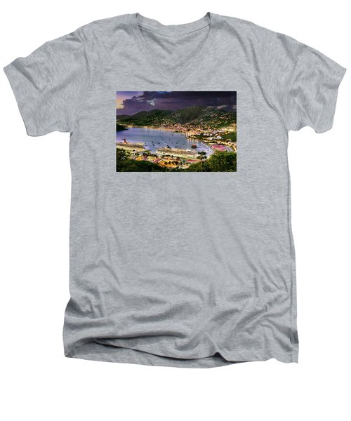 St Thomas Nights Men's V-Neck T-Shirt