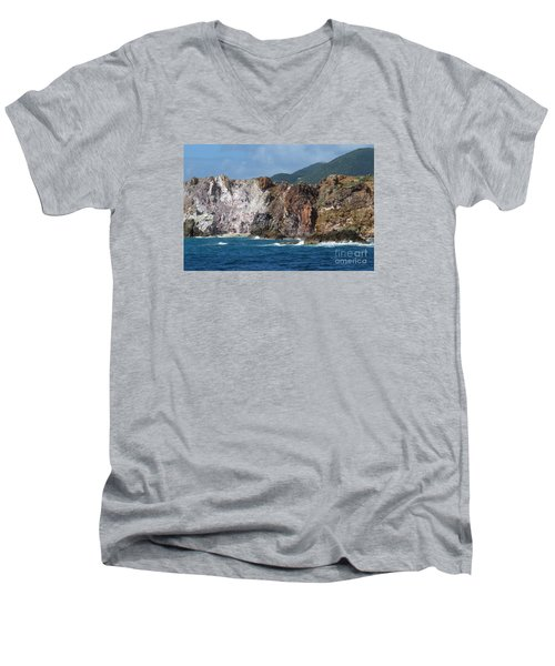 St. Thomas Shoreline Men's V-Neck T-Shirt