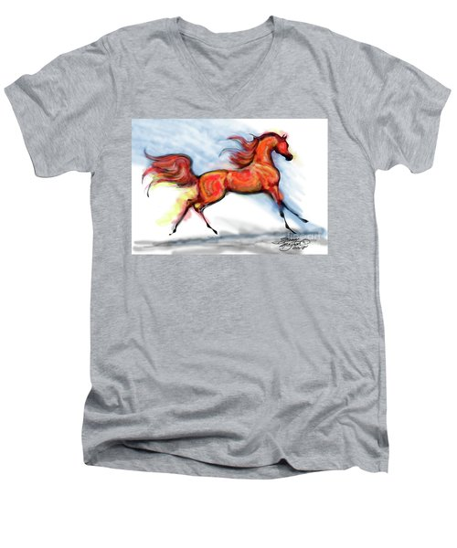 Staceys Arabian Horse Men's V-Neck T-Shirt