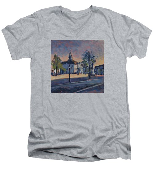Stadhuis Maastricht Men's V-Neck T-Shirt by Nop Briex