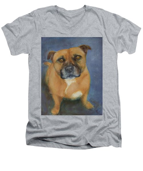 Staffordshire Bull Terrier Men's V-Neck T-Shirt