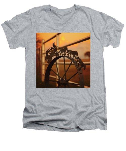 Stagecoach Sunset Men's V-Neck T-Shirt