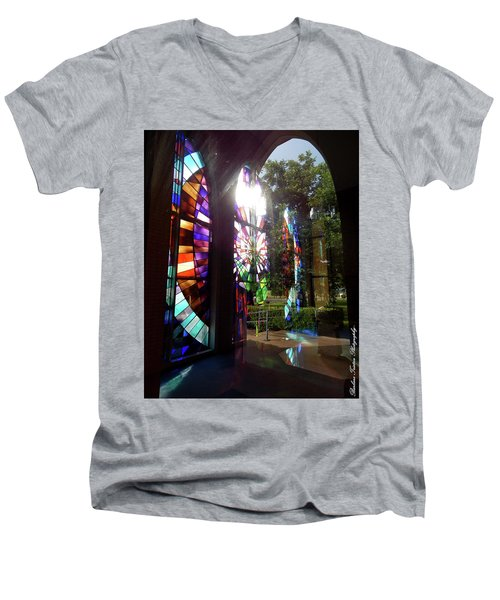 Stained Glass #4720 Men's V-Neck T-Shirt by Barbara Tristan