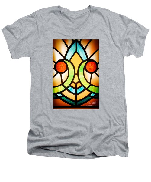 Stained Glass Detail Men's V-Neck T-Shirt