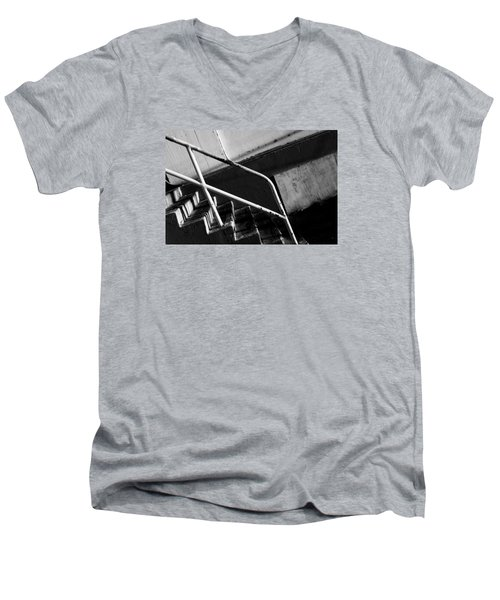 Stair Wall And Shadows Men's V-Neck T-Shirt by Catherine Lau