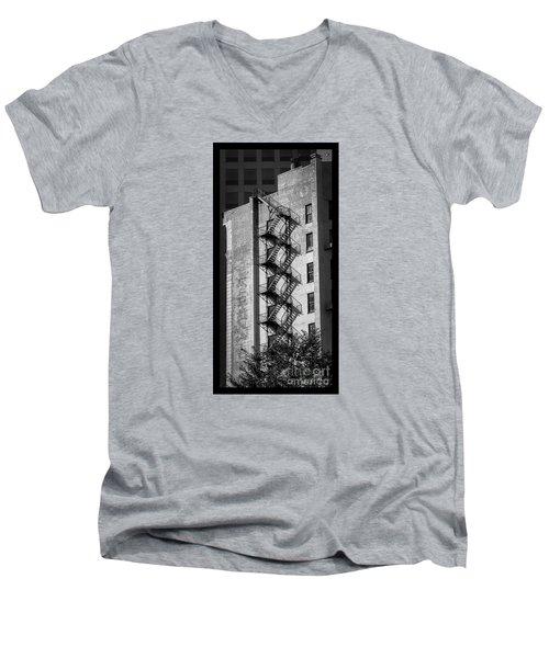 Staircase Silhouette Men's V-Neck T-Shirt
