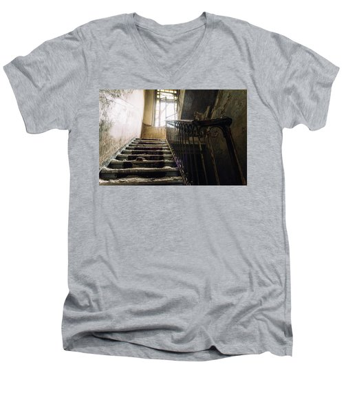 Stairs In Haunted House Men's V-Neck T-Shirt