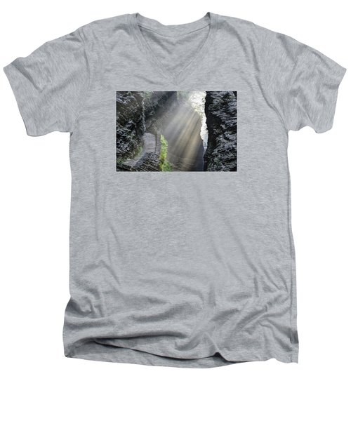 Stairway Into The Light Men's V-Neck T-Shirt by Gene Walls