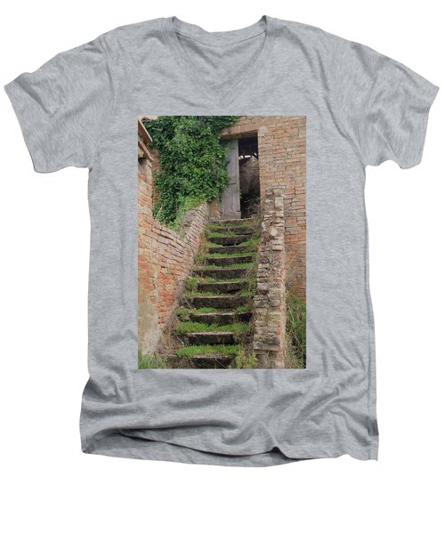 Stairway Less Traveled Men's V-Neck T-Shirt